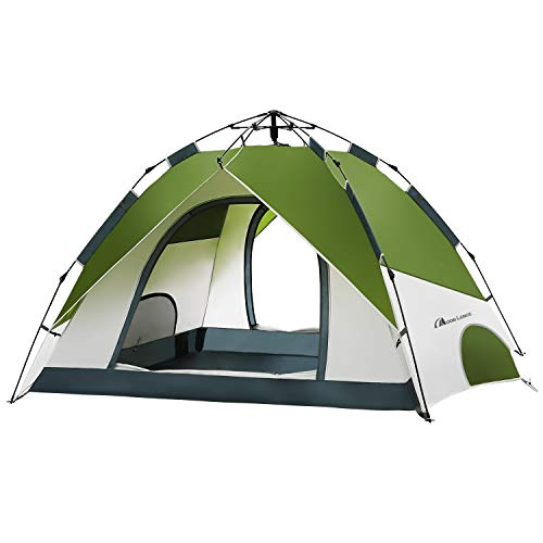 MOON LENCE Pop Up Tent Family Camping Tent 4 Person Tent ...